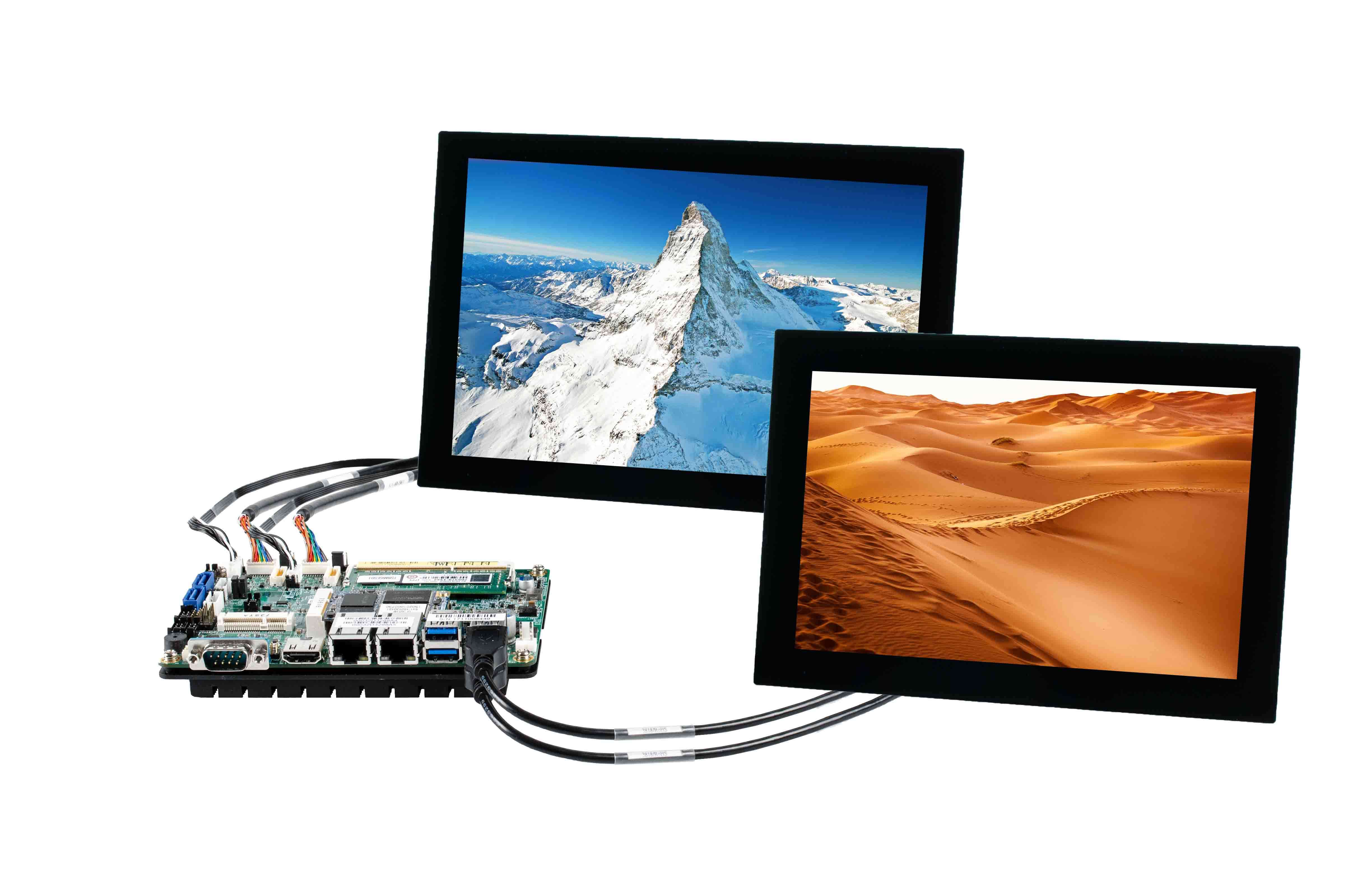 IB818 kit solution with SBC, displays, cables and further accessories