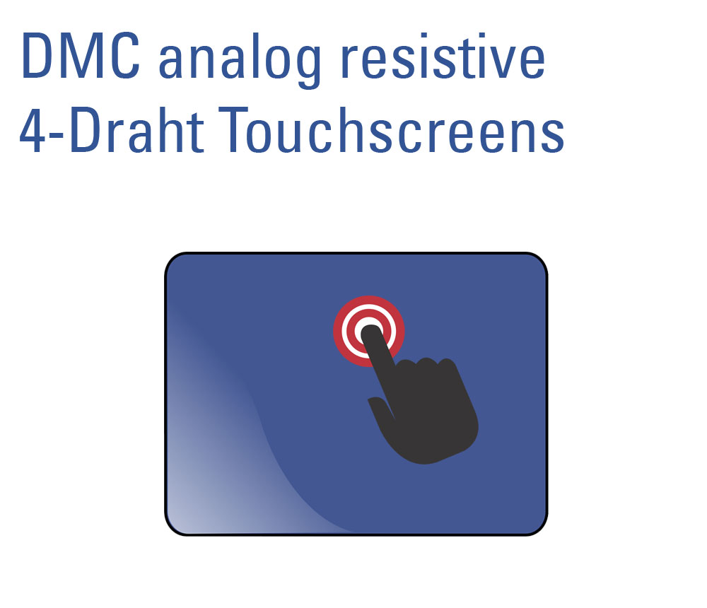 analog resistiver 4-Draht Touchscreen