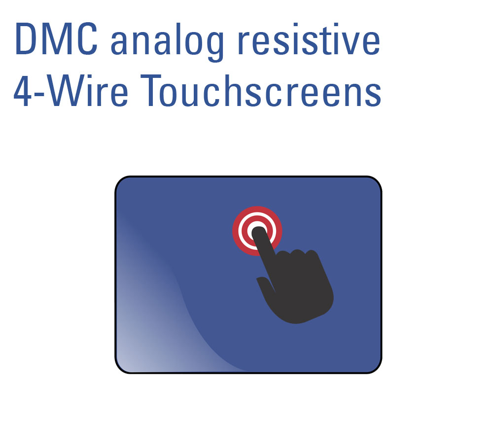 analog resistiver 4-wire Touchscreen